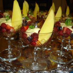 Berries with caipirinha zabaglione