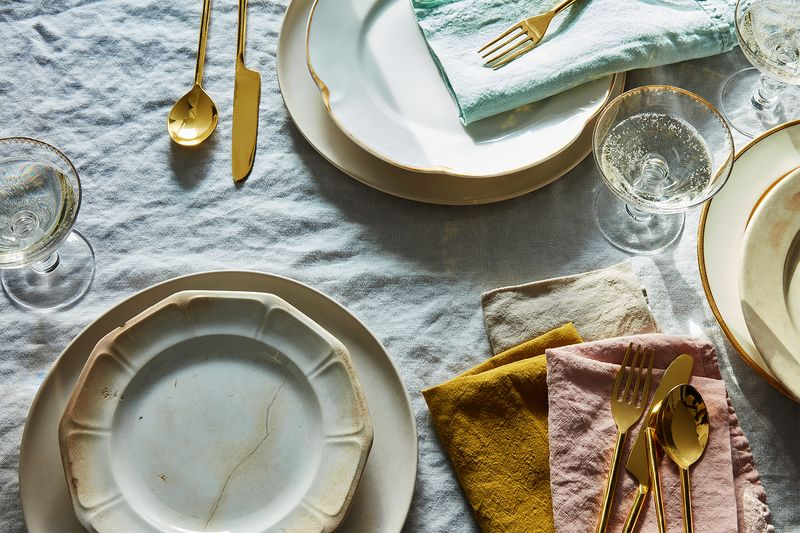 In natural linen or colors, these napkins really tie the table together.