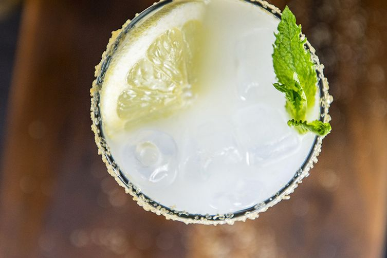 Lemon-Infused Ouzo Mint Spritzer