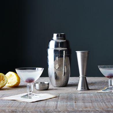 Stainless Steel Cocktail Shaker & Jigger