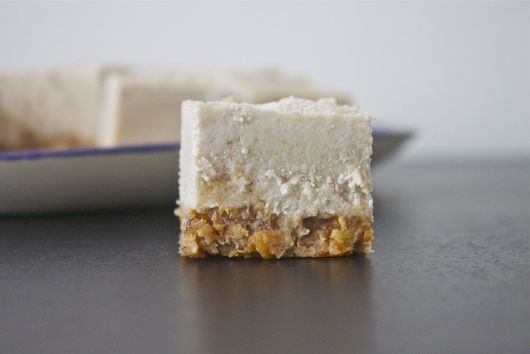 maple spice frozen 'cheesecake' bars
