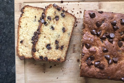Chocolate Chip Muffin Loaf Cake