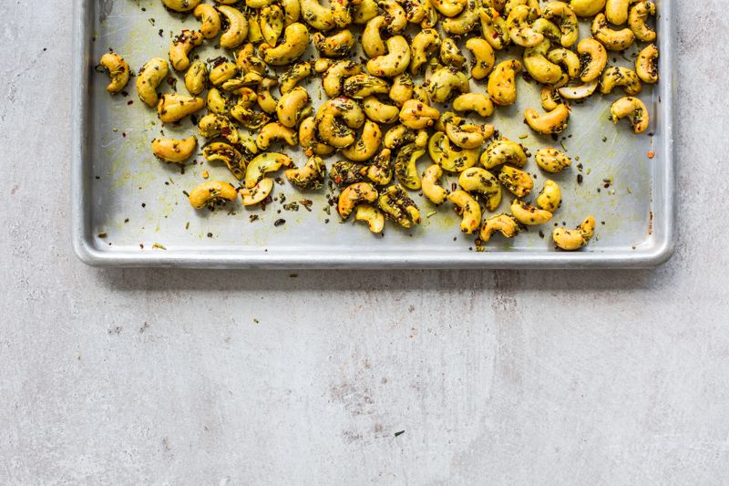 Tumeric Roasted Cashews with Chia