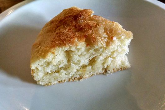 a small batch sourdough lemon cake