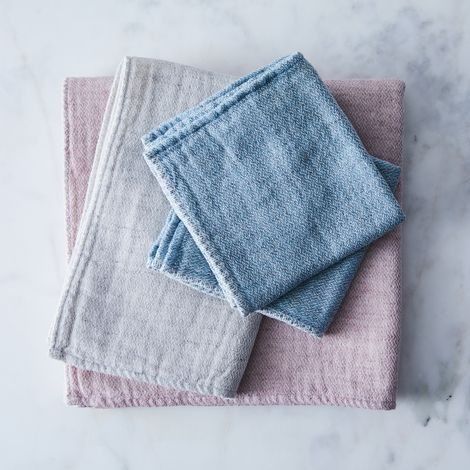 Claire Organic Cotton Japanese Bath Towels