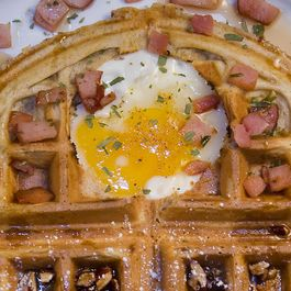 Egg in a Waffle