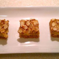 Pear Almond Shortbread Bars