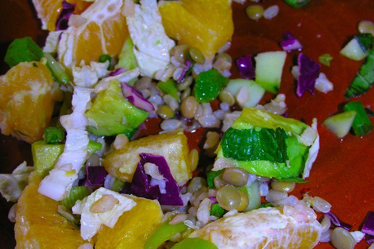 A New Year's lentil salad