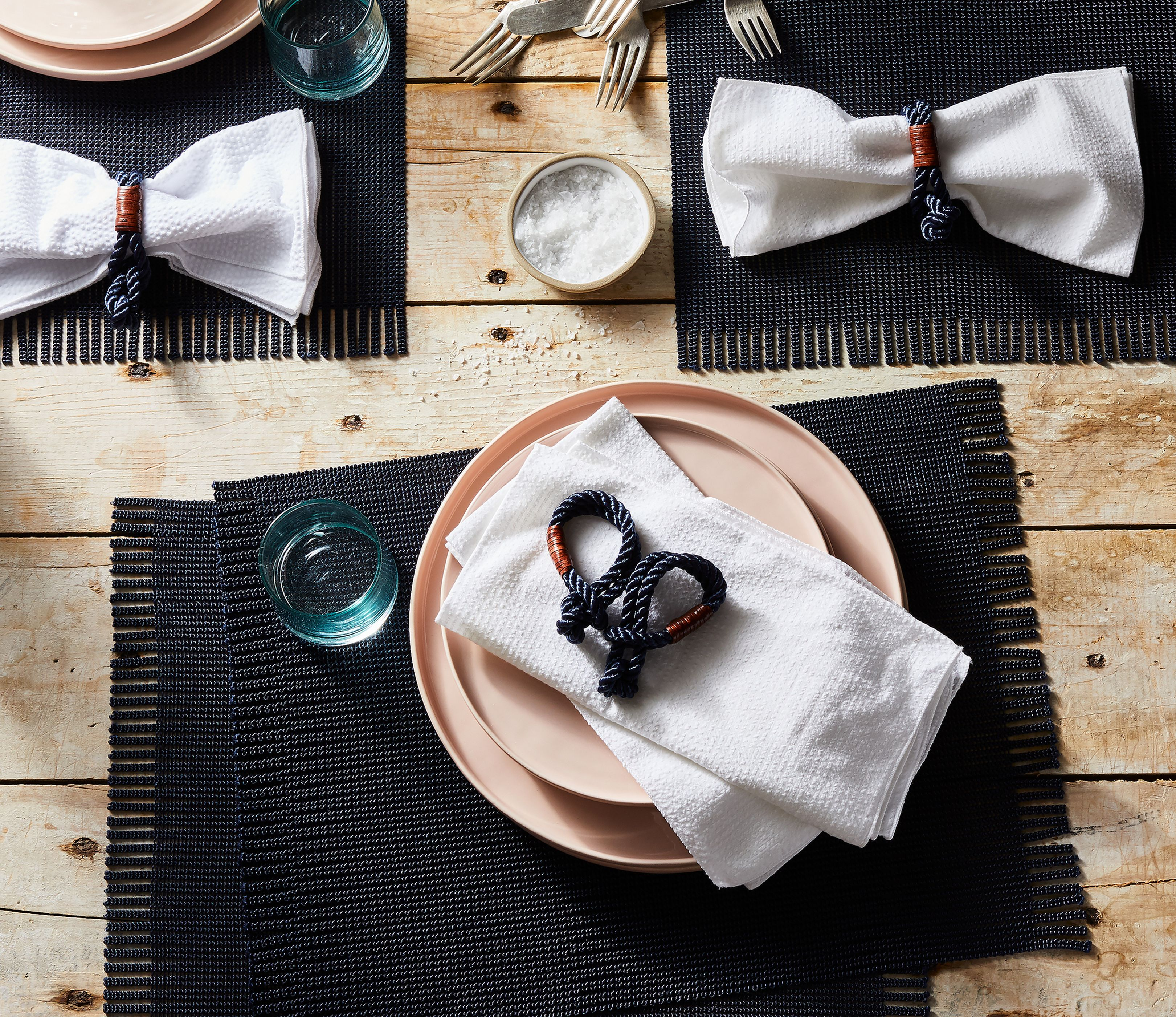 Nautical Rope Leather Napkin Rings Set Of 4 On Food52