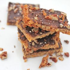Chocolate and Pecan Shortbread Bars
