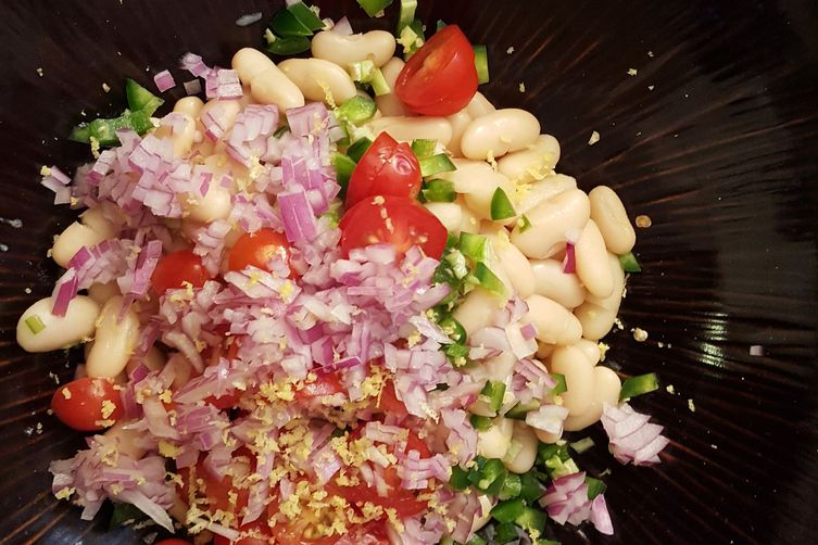 Mint & Cannellini Bean Tuna Salad