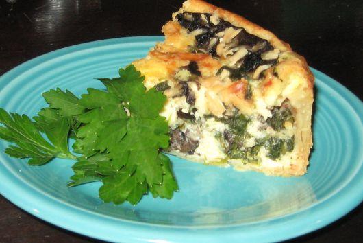 Portobello and Asiago Cheese Tart