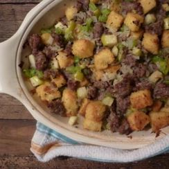 Polenta, Sausage, Apple Stuffing