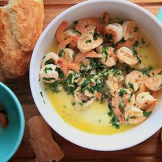 Sautéed Shrimp with Lemon, Garlic, and Parsley