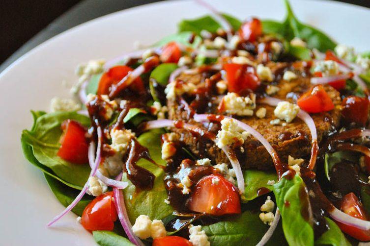 BBQ Veggie Burger Salad
