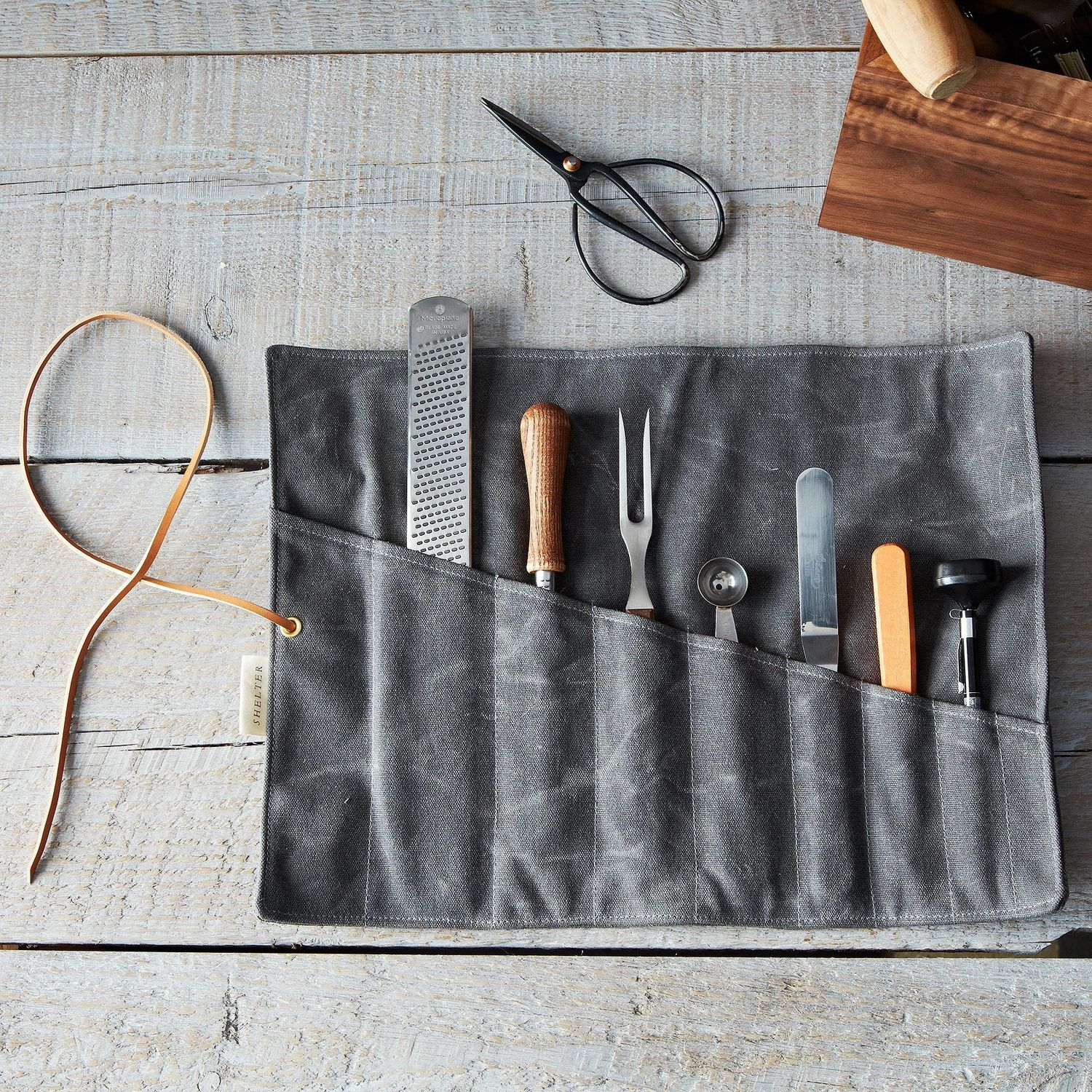 Waxed Canvas Tool Roll On Food52