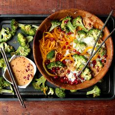Spicy Broccoli Butternut Bowls