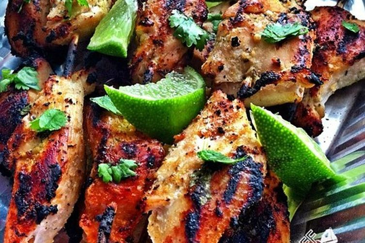 Cilantro Lime Chicken Skewers