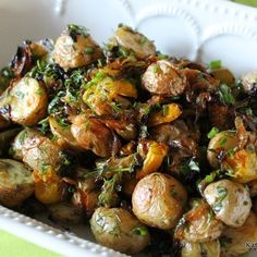 Herb Roasted Baby Potatoes with Caramelized Onions