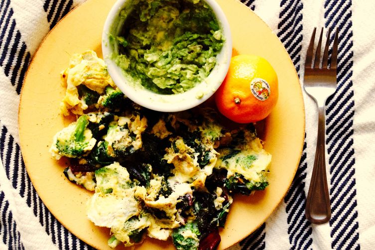 Breakfast for Dinner - Swiss Chard Scramble
