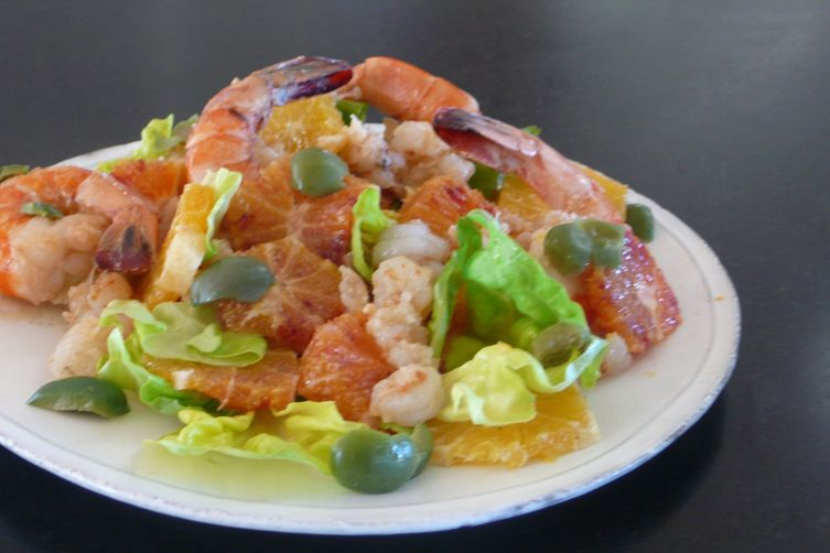 Seafood-Citrus Salad with Vanilla Bean-Black Pepper Vinaigrette