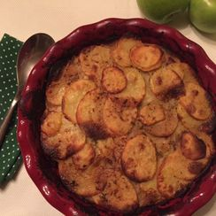 Apple-Potato Gratin with Caramelized Onions