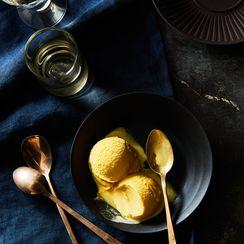 Vanilla Saffron Gelato