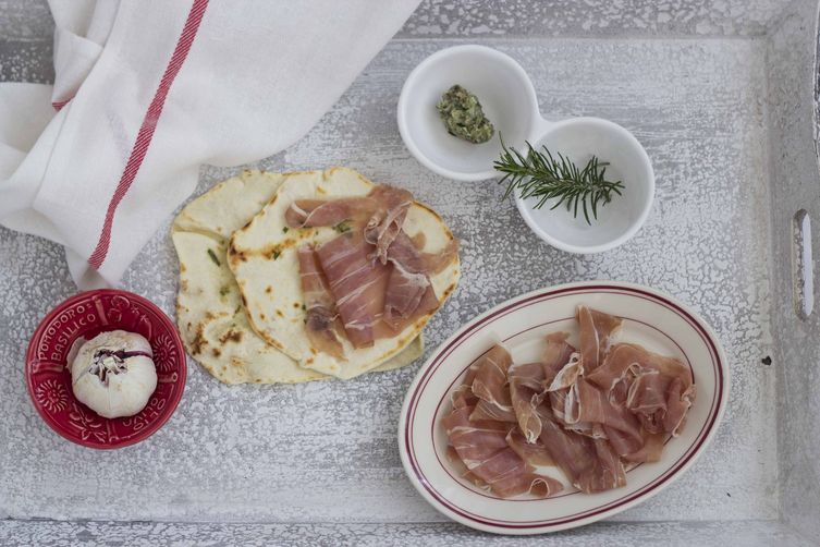 Griddled Flat Bread (piadina) - Romagna, Antipasto (Starter)