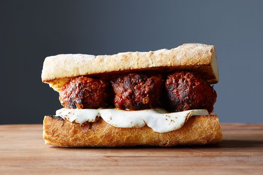 Chicken Meatball Sub with Gobs of Fresh Mozzarella