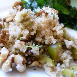 Quinoa with Walnuts, Goat Cheese, and Thyme