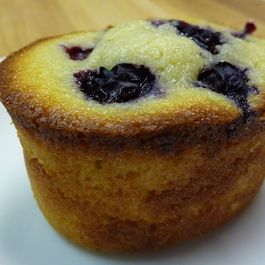 Deliciously Lemony Blueberry Friands