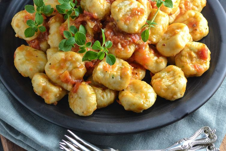 Ricotta Gnocchi With Anchovy Tomato Sauce