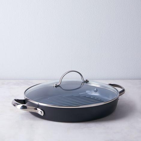 "GreenPan Valencia Nonstick Double Handled Grill Pan, 11"""