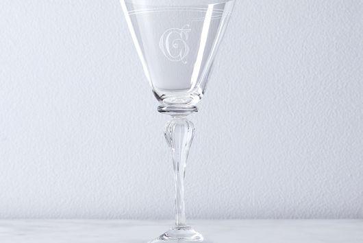 Double Line Vintage Italian Crystal Glassware