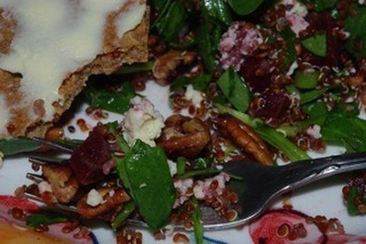 Apple and Red Quinoa Salad