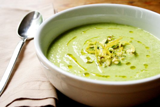 Chilled Pea, Squash and Mint Soup