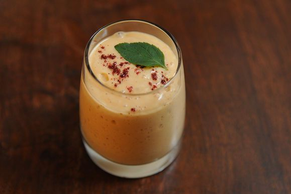 Heirloom Tomato and Mango Lassi with Ground Sumac by Sagegreen