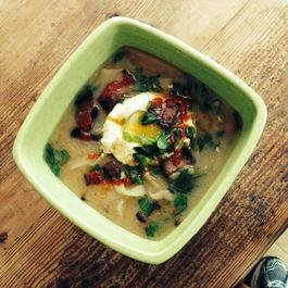 Bacon and Egg Miso Breakfast Soup