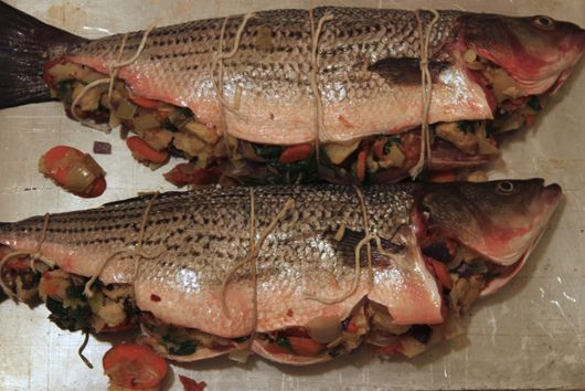 Stuffed Sea Bass or Trout