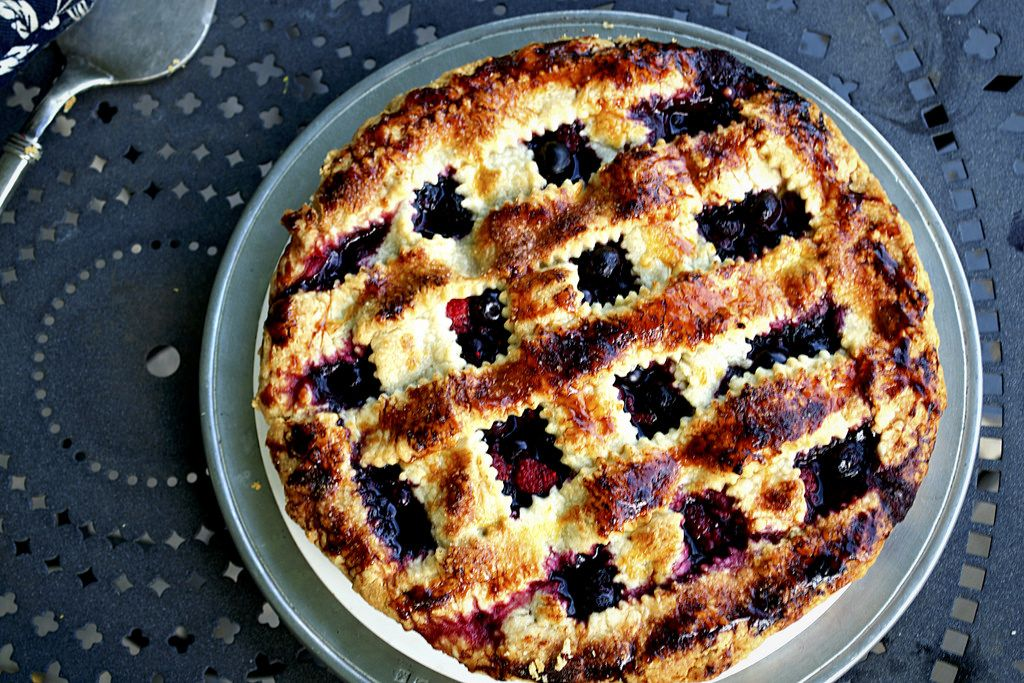 Wild Berries Pie with Cassis