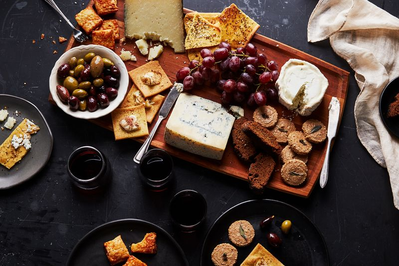 Homemade crackers take a cheese plate from good to BONKERS.