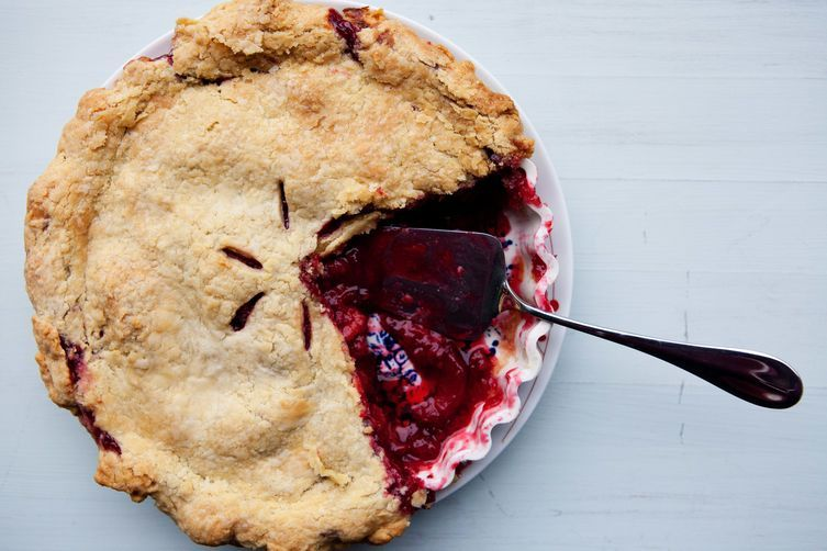 Plum Raspberry Pie on Food52