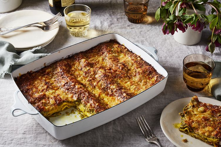 Fennel-Pistachio Pesto Lasagna