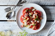 Brown Butter Lobster Caprese Salad