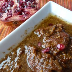 Persian Chicken Stew in Walnut and Pomegranate Sauce (Fesenjan)