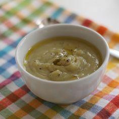 Velvety Leek, Potato & Jerusalem Artichoke Soup (dairy-free)