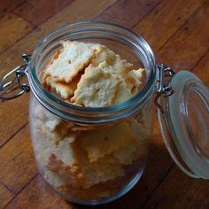 Olive Oil Parmesan Crackers