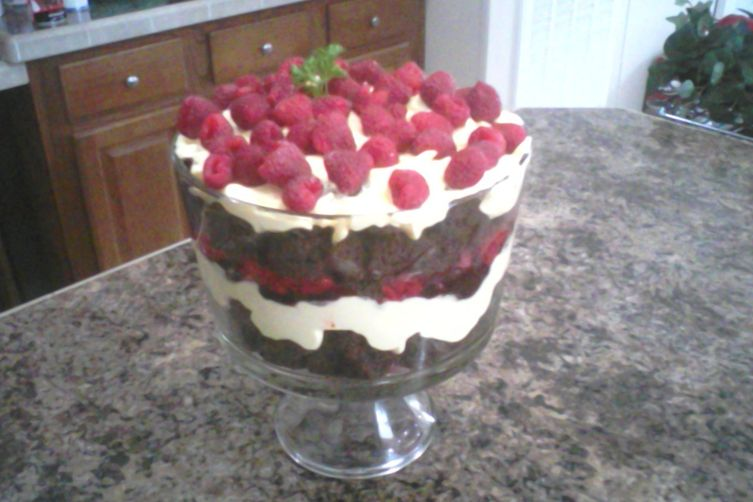 Raspberry Chocolate Cream Trifle