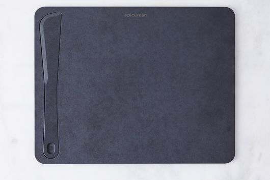 Matte Black Cutting Board with Integrated Spreader