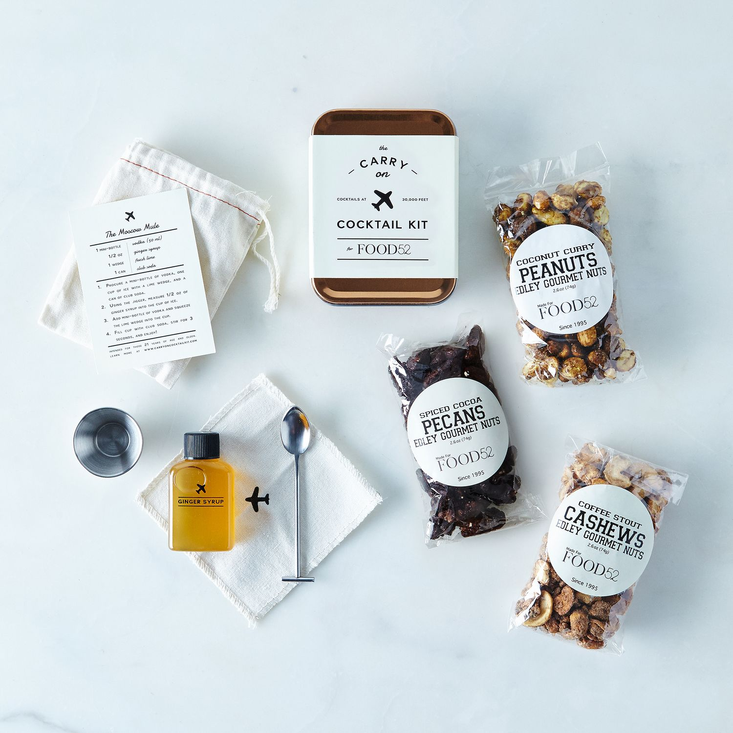 Food To Carr When Travelling: Carry-On Cocktail Kit With Spiced Travel Nuts